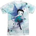 Betty Boop SPARKLE FAIRY 1-Sided Sublimated Big Print Poly T-Shirt $36.93 AUD on eBay