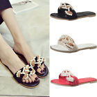 Women Mules Pearl Slippers Princess Sandals Beads Shoes Open Toe Size 6 7 8 9