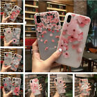 Flower Embossing Pattern Rubber Silicone Gel TPU Case For iPhone 8 6s 7 Plus X 8