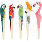 Wooden Carved Wood Tropical Flamingo Pen Parrots Biro Stationary Home Gift