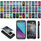 For Samsung Galaxy J3 Emerge/ J327 Shockproof Brushed Hybrid Cover Case + Pen