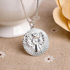 Charm Women Letter Love Pendant Necklace Guardian Angel Chain Jewelry Accessory