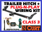 Curt Trailer Hitch & Vehicle Wiring Harness Fits 98-06 Jeep Wrangler 13408 55363