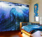 Wild Ocean Wave Horse 3D Blockout Photo Printing Curtains Draps Fabric Window
