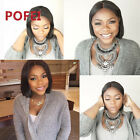 "10"" BOB WIG 100% Brazilian Human Hair Lace Wig Glueless Full Lace/Lace Front Wig"