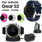 EEEKit Wireless Charger Charging Dock+Replacement Watch Band For Samsung Gear S3