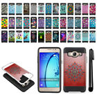 For Samsung Galaxy On5 G550 G500 Shockproof Brushed Hybrid Cover Case + Pen