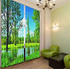 Rural Area Spring 3D Blockout Photo Mural Printing Curtains Draps Fabric Window