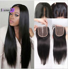 8A 4x4 Straight Lace Top Closure Bleached Knots Free Middle 3 Parts Human Hair