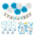 Baby Shower Set Photo Booth Props Bunting Banner Pom Pom Hanging Birthday Party