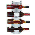 3 / 4 Bottles Stainless Steel Wine Rack Bar Wall Mounted Kitchen Holder Storage