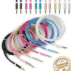 1M 3.5mm Jack AUX Stereo Plug Braided Male Audio Auxiliary Lead Cable Phone/tab
