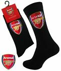 2 Boys ARSENAL Crest Badge FOOTBALL CLUB Soccer Team Socks UK 4-6