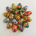 "HAND PAINTED WOODEN FLORAL DESIGN EASTER EGGS 7cm/2.8"" PICK YOUR DESIGN"