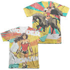 Wonder Woman HANDS FULL 2-Sided Sublimated All Over Print Poly Cotton T-Shirt
