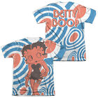 Betty Boop SYMBOLS Hearts 2-Sided Sublimated All Over Print Poly Cotton T-Shirt $29.85 USD
