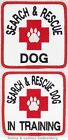 1 SEARCH & RESCUE DOG PATCH IN TRAINING 3X3 in Danny & LuAnns Embroidery service