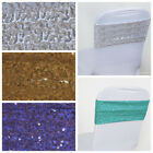 SPANDEX Sequined Chair Sashes for Wedding Party Decorations Wholesale Supplies