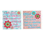 A Ting Stretched Wall Canvas Painting Flower 12x12 Set of 2