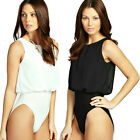 New with tag Women's Ladies Girls Chiffon Shell Sleeveless Body Suit Top Shirt