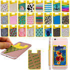 Adhesive Stick On Silicone Card Holder Pouch For iPhone Samsung LG Cell Phone