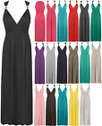 Womens Plain Spring Sleeveless Ladies Full Length Long Stretch Maxi Dress 8-14