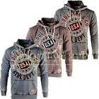 Mens Soulstar Burnout Wash USA 76 Varsity League Hoodie Pullover Hooded Top Size