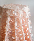 "Petal Taffeta Table Cloth White and Peach 132"" and 90"" X 90"" Wedding Decor"