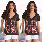 Fashion Summer Women Loose Short Sleeve Cotton Vest Casual Blouse Tops T-Shirt