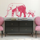 Elephant with Baby Vinyl Wall Decal - street art style - fits home interior K675