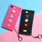 Cute Cartoon Candy Minnie Mickey Ring Strap soft case cover for iphone 7 6S plus