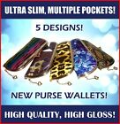 Special Offer Purse Wallet Floral cheetah Fashion pattern high gloss card holder