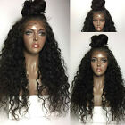 Women's Front Lace Wigs Synthetic Hair Long Natural Color Water Wavy Heat Safe