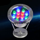 3w 6w 9w 10w 12w multicolor swimming pool light White Warm RGB red underwater
