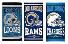 "NFL Licensed Team Cotton Fiber Reactive 30"" x 60"" Beach Pool Dorm Towel Wincraft $22.99 USD on eBay"