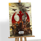 Star Wars Rogue One Canvas Print Picture Wall Art Jyn Erso Darth Vader K-2SO A1