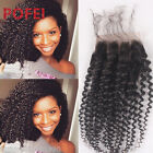 "4""x4""Lace Closure Kinky Curly 100% TOP 8A Brazilian Human Hair Free/Middle/3Part"