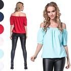 Glamour Empire. Women's Elastic Hemline Baggy Top Half Sleeves Bardot Neck. 037