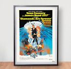 James Bond 007 Diamonds Are Forever Movie Poster Film Vintage Art Retro Connery £3.59 GBP