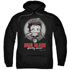 Betty Boop BORN TO RIDE Leather Hat Motorcycle Licensed Sweatshirt Hoodie $68.05 USD on eBay