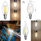 C35 E14 Screw Dimmable Bulb Home LED COB Lamp Candle Pointed Light 2/4/6W