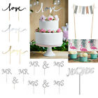 Wedding / Party Cake Toppers, 'Love', Flamingos, Bunting, Cake Picks, Decoration