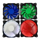 Quiet 120mm 4-pin Computer Case PU Bearing Cooler Cooling Fan Mod With LED Light