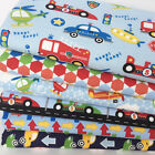 Zoom Children's themed Blue 5 piece 100% cotton fabric bundle for sewing