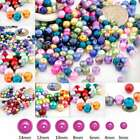 3/4/6/8/10/12/14mm Assorted Glass Pearl Beads Spacer Round Loose Wholesale