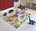 Playmats Childrens Colourful Washable Printed Polyester Non Slip Backing