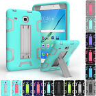 Luxury Rubber Hard Armor Bracket Case Cover For Samsung Galaxy Tab E 8.0 SM-T377