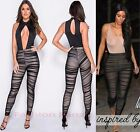 Womens Ladies Ruched Mesh Insert Nude Lining Full Length Stretch Legging Trouser