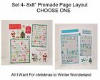 Set 4- Assorted 8 x8 Premade Page-Choose One-Just Add Pics!