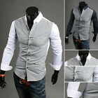 Men's Summer Cool Tops Casual Dress Slim Fit T-Shirts Casual Long Sleeve
